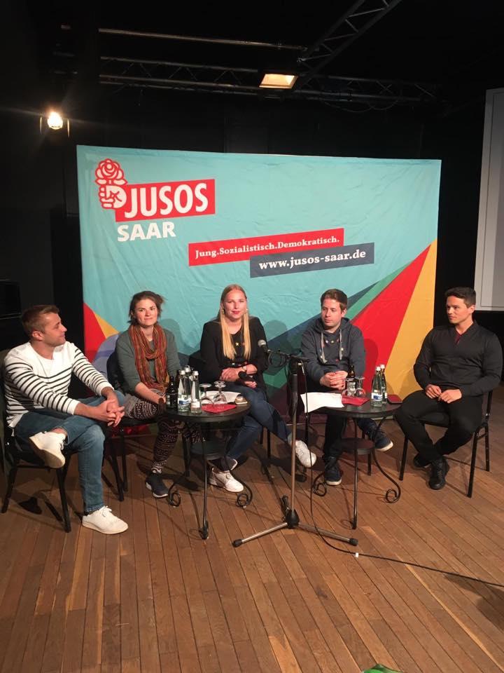 Jusos an der Saar diskutieren mit Kevin Kühnert über Umweltpolitik, Jugendbeteiligung und Europa