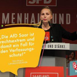 Jusos an der Saar fordern die Überwachung der AfD Saar durch Verfassungsschutz