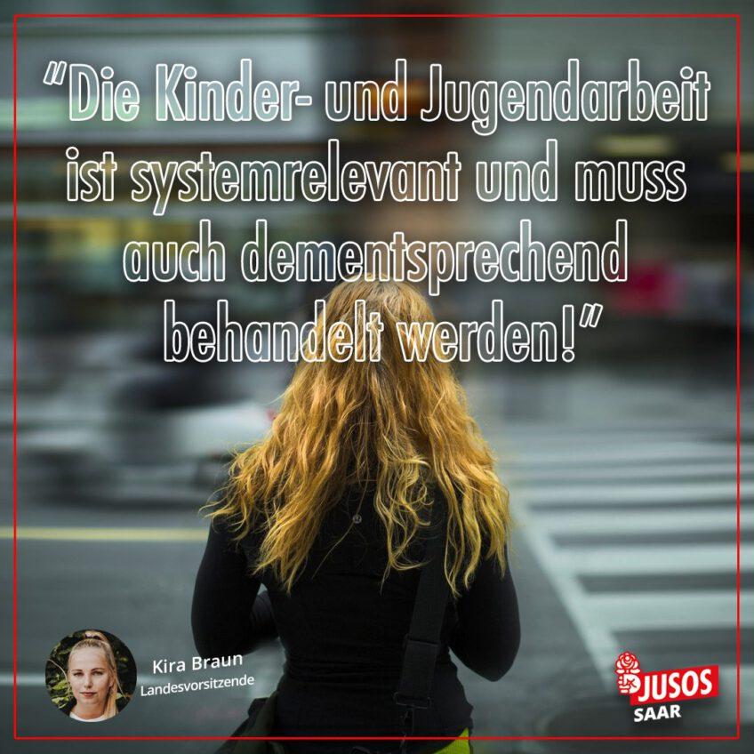 Jusos Saar: Jugendarbeit ist systemrelevant!