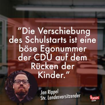 """""""Egonummer der CDU auf dem Rücken der Kinder"""" – Jusos kritisieren Saar-CDU scharf für parteipolitische Winkelzüge beim Thema Schulöffnungen"""